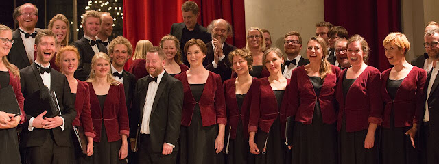 Arvo Pärt with Copenhagen Chamber Choir Camerata, winners of the 2017 London International A Cappella Choral Competition (Photo Amy Ryan Media)