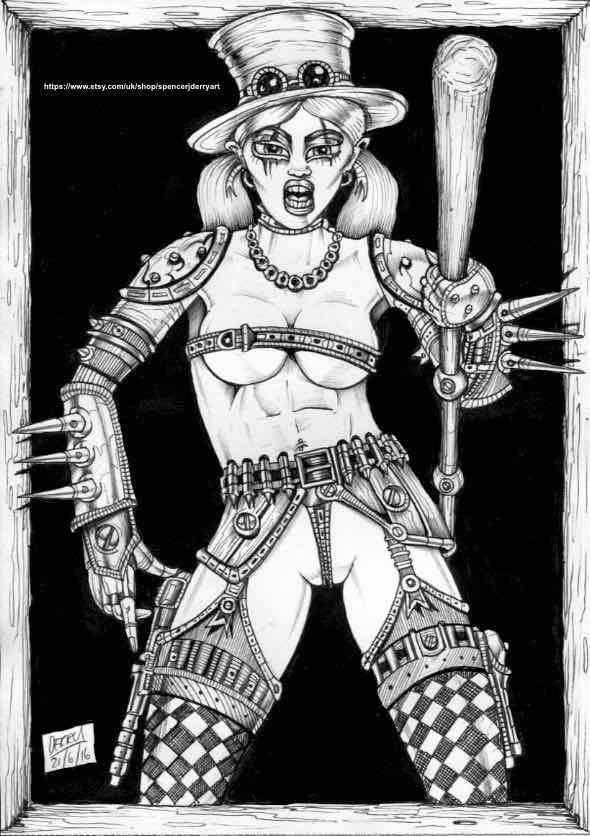 Steampunk Assassin Fetish Fantasy Art