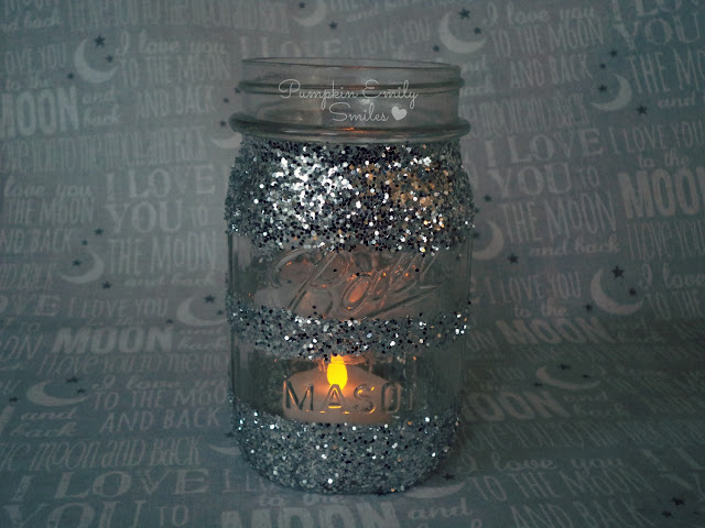 Glitter Candle Jar