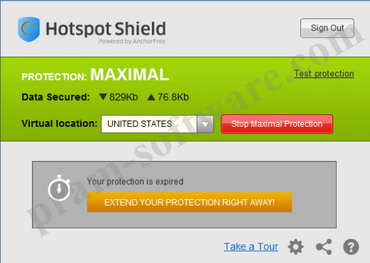 ScreenShot Hotspot Shield Terbaru