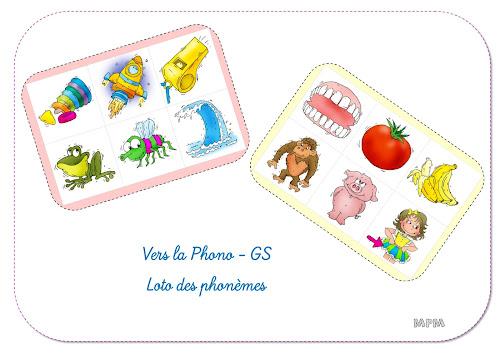 Loto des phonèmes - Vers la phono GS