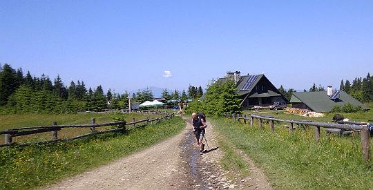 Marsz na Groniki (1027 m n.p.m.) spod Schroniska na Starych Wierchach.