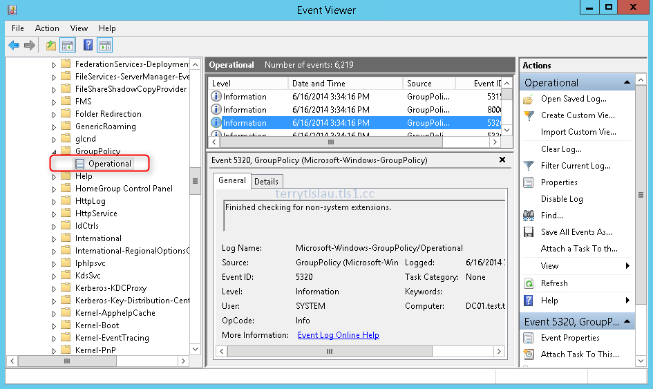 Terry L@u's blog: Tracing group policy processing in Event