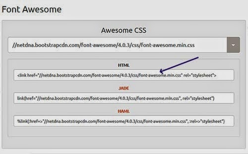 Jurnal Sagala Cara Mudah Menggunakan Font Awesome Di Google Blogger