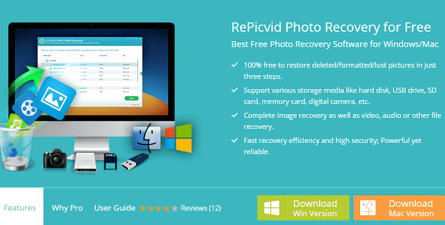 RePicvid Photo Recovery for Free