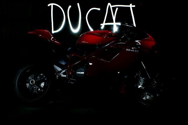 ducati light painting