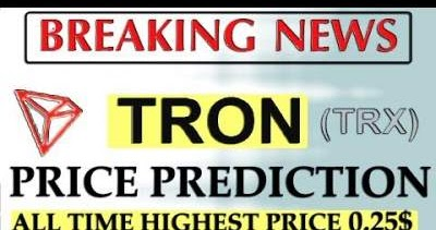 TRON Price Prediction 2018 | 2019 - TRX May Go To 0 07 USD