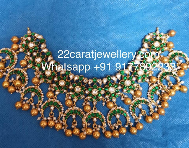 Exclusive Silver Green Kundan Jewellery