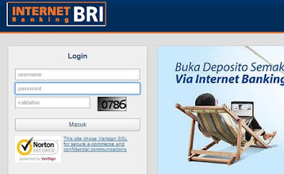 gambar BRI internet banking