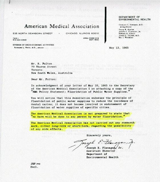 Informasi Fluoride: Dokumen rahasia Asosiasi Medis Amerika