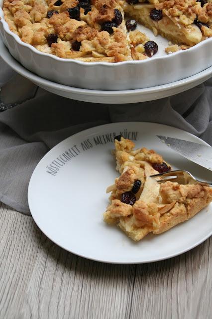 Apfel-Käse-Streusel-Tarte