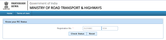 rto vehicle information enter you vehicle  registration number here