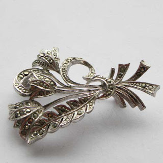 Tulip marcasite jewellery