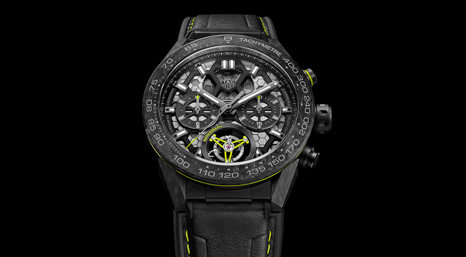 f9394982eed9 The acid-lime accents and groovy dial texture of the TAG Heuer Carrera  Calibre Heuer 02T Tourbillon replica watch bring to mind TAG s inaugural  adventures ...