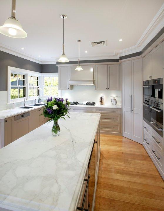 kitchens pictures kitchen towel bars encimeras de mármol: ¿una opción para la cocina? - cocinas ...