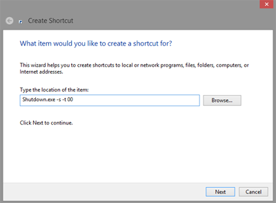 Cara Membuat Shortcut Shutdown