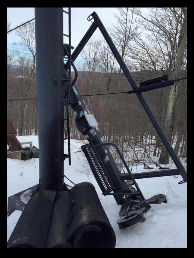 ski lift fail, timberline, west virginia, ski, derailment,