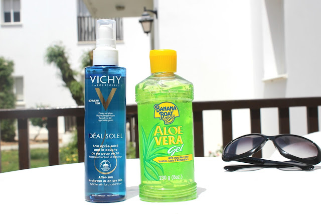 Vichy Ideal Soleil Double Usage After Sun Oil and Banana Boat Aloe Vera Gel Review