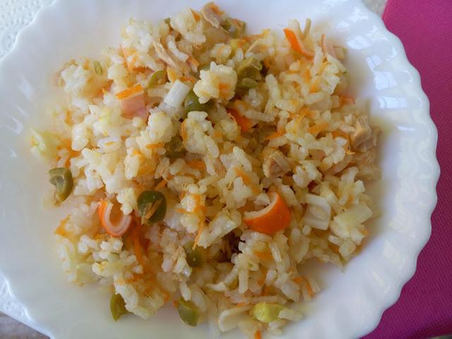 Receta fácil ensalada de arroz