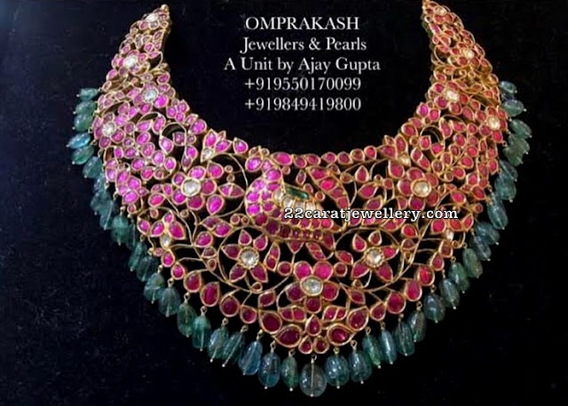 Kundan Bridal Choker by Omprakash Jewellers