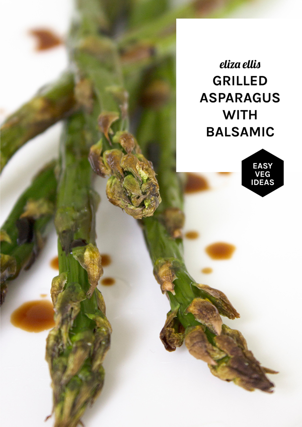 Asparagus: Five Flavor Ideas for Weekday Dinners - Grilled Asparagus with Balsamic by Eliza Ellis