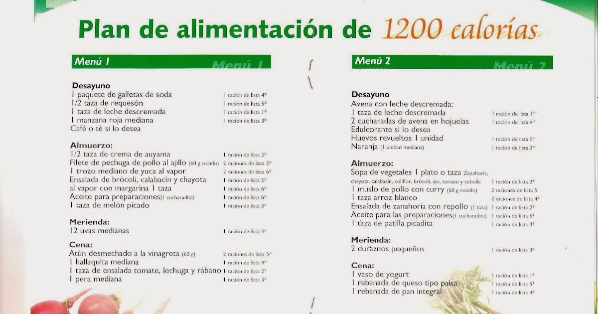 dieta de 1200 calorias para bajar de peso