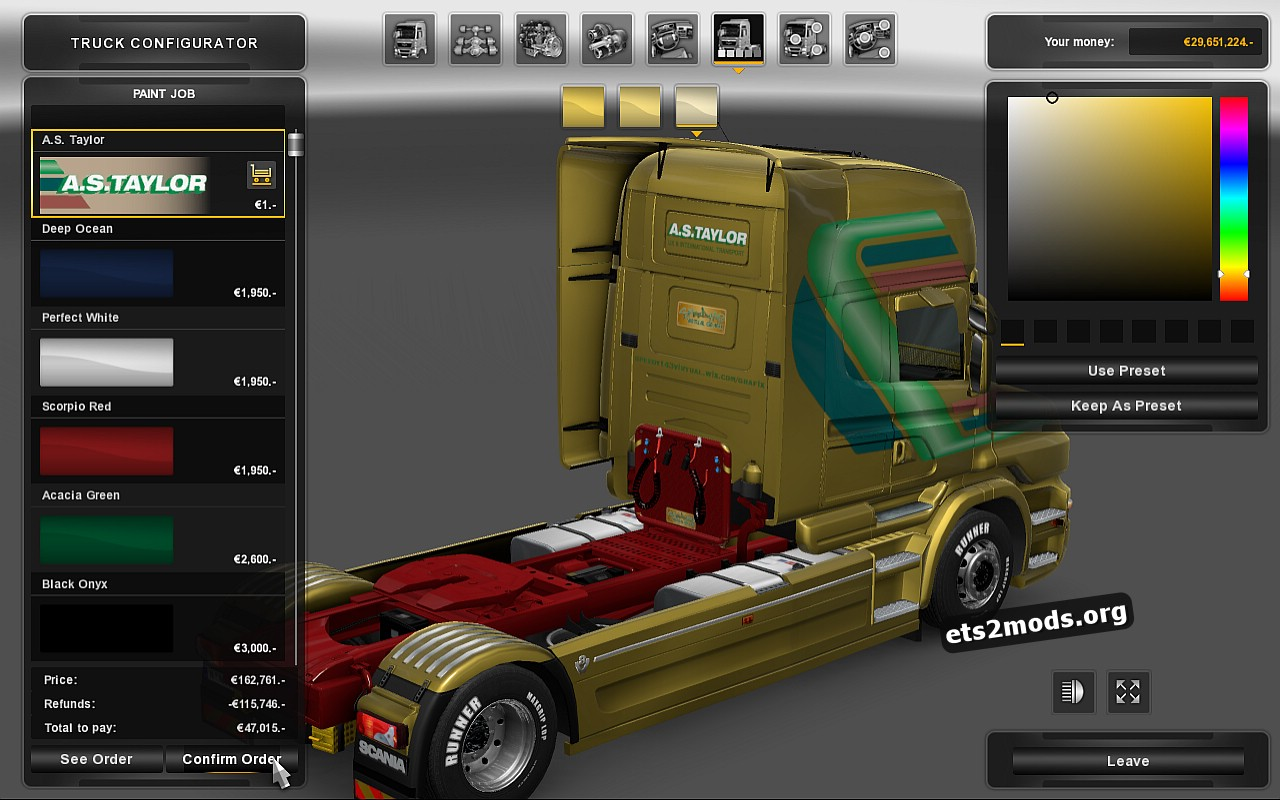 AS Taylor Skin for Scania RJL