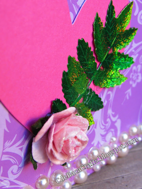 Valentines Day Card by CdeBaca Crafts blog.
