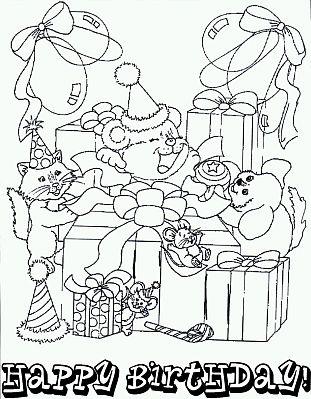 Dibujos de Cumpleaños para Pintar, parte 4 - IMÁGENES PARA WHATSAPP ...