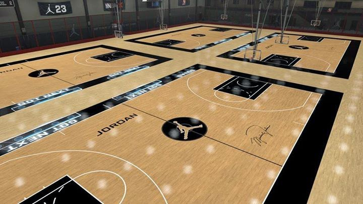NBA 2K15 Jordan Rec Center Court