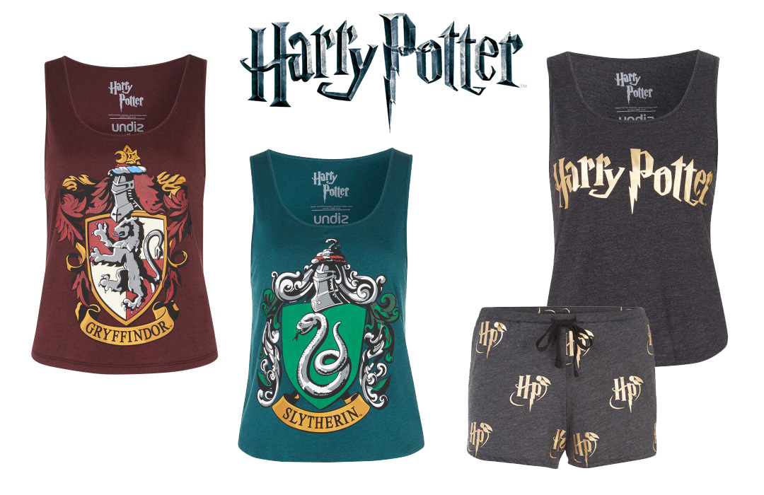 Undiz geek collection, harry potter, griffindor, slytherin, pj's, sleepwear, pajamas