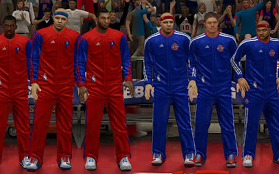 NBA 2K13 Detroit Pistons Real Warmup Uniforms Mod
