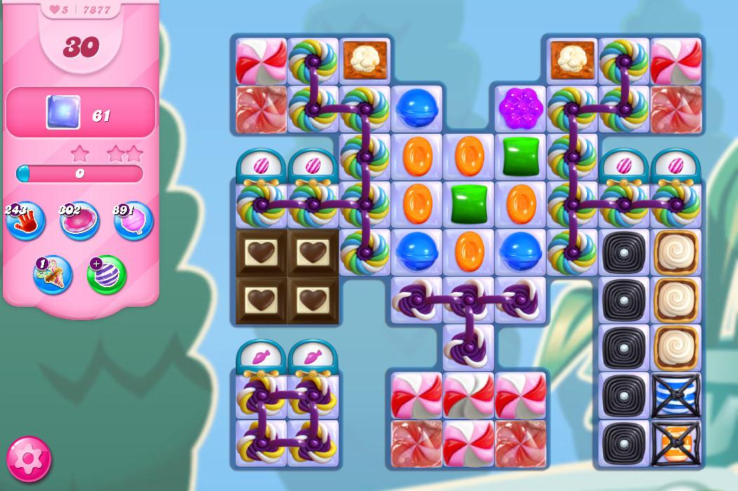 Candy Crush Saga level 7877