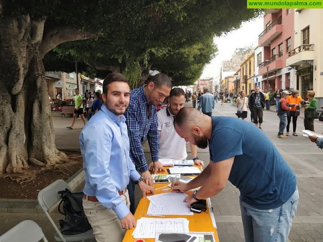 Nuevas Generaciones de La Palma lleva a cabo en Los Llanos una campaña a favor de la Prisión Permanente Revisable