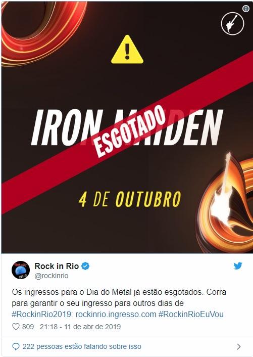 5aee505bdcd Rock in Rio 2019 começa venda de ingressos e dias 4 e 6 já estão ...