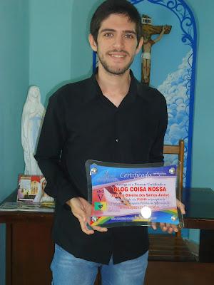AGRADECIMENTO: Blog Coisa Nossa ficou 1º Lugar na preferencia da população de São Joaquim do Monte.