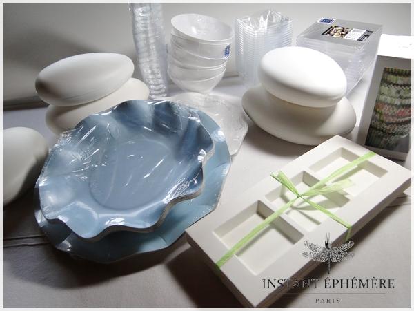 INSTANT EPHEMERE, décoration et vaisselle jetable