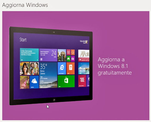 Passa a Windows 8.1