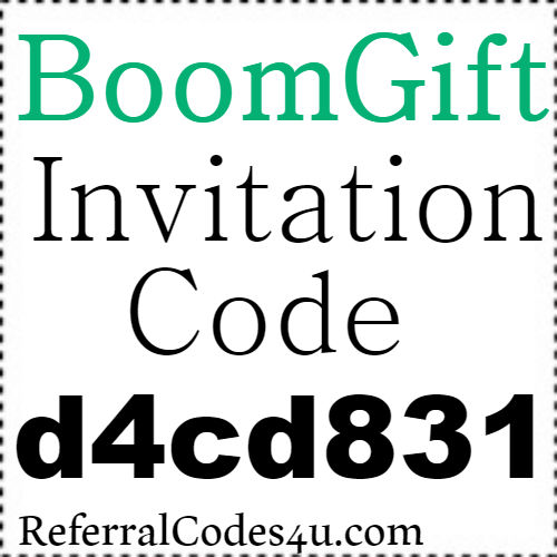 BoomGift App Invitation Code, Referral Code, Reviews and Sign up Bonus 2021-2021