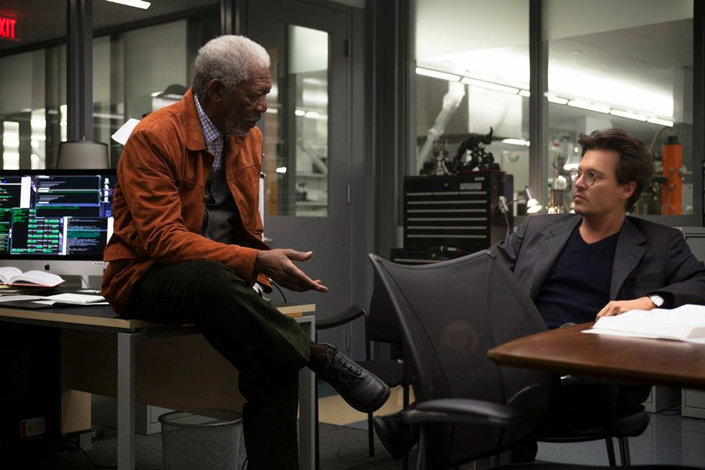 transcendence morgan freeman johnny depp