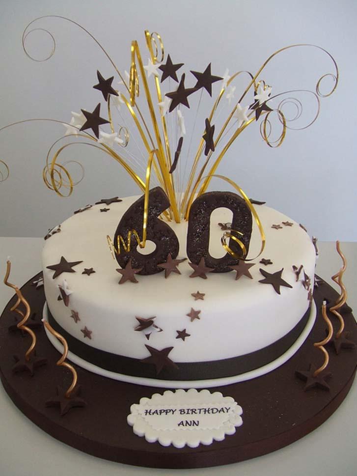 Elegant Birthday Cakes 60th Cake Simple