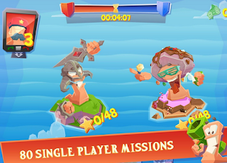 Worms 4 - Game multiplayer android terbaik
