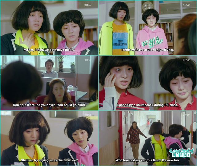 ae ra and seol hee make weird excuses to bunk school - Fight for my Way: Episode 1 korean Drama