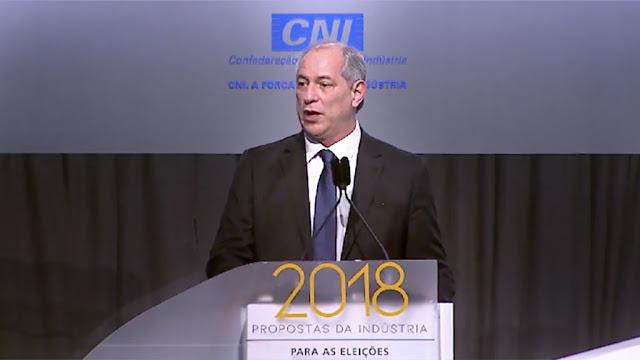 Sabatina de Ciro Gomes na Confederação Nacional da Indústria (CNI)