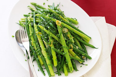 Sauteed beans and asparagus with garlic and chive butter meal ideas