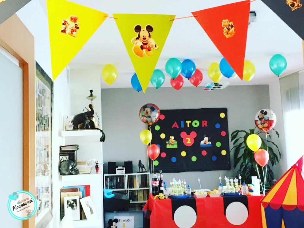 fiesta infantil mickey mouse casera