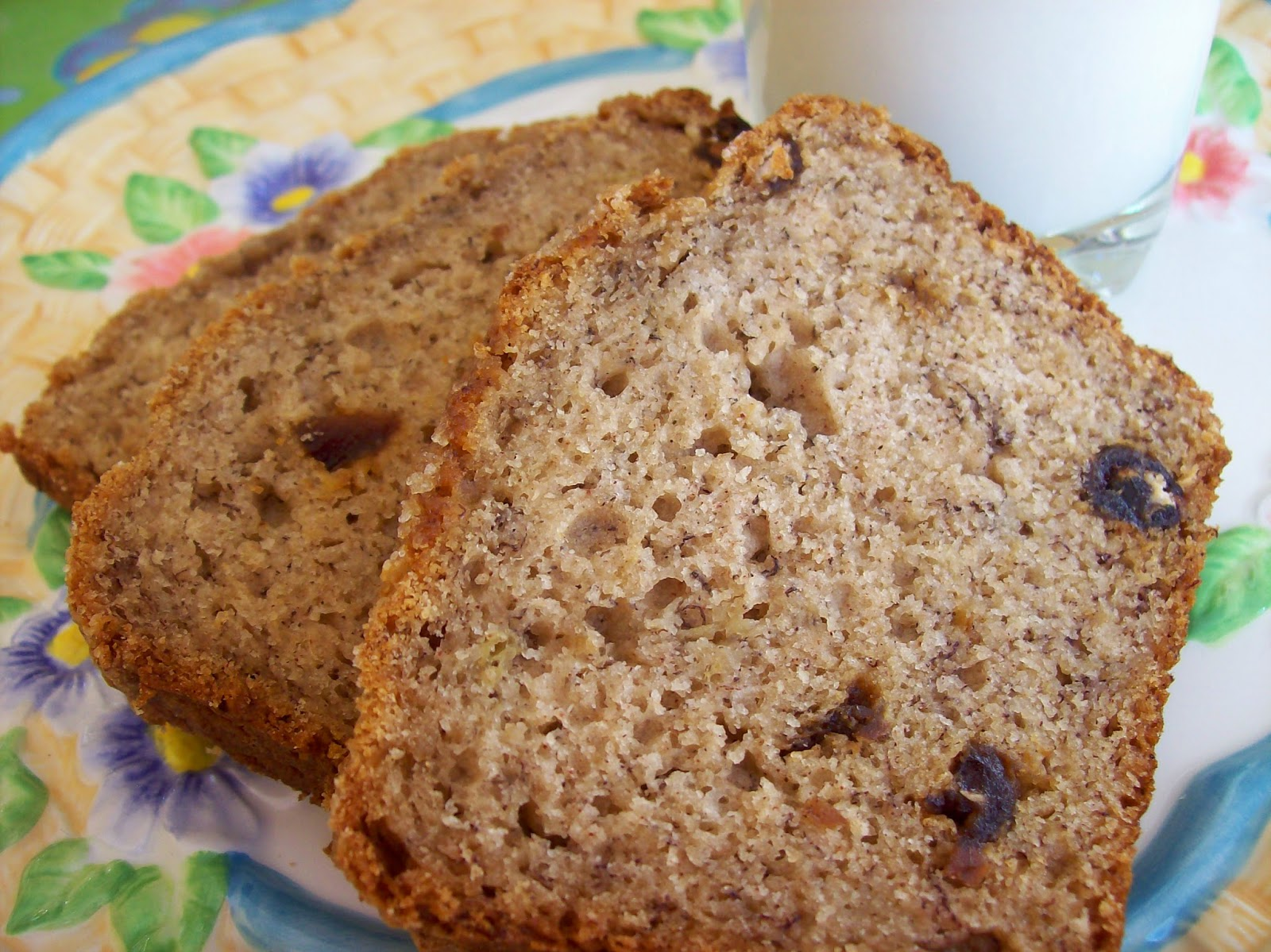 Slices of Banana Date Bread