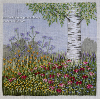 Under the Silver Birch (designed by Jo Butcher): Lots of flowers under the tree