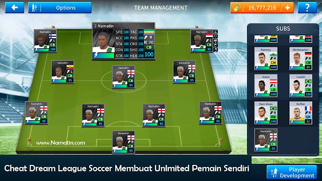 cheat dream league soccer membuat pemain sendiri