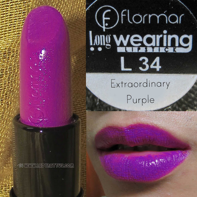 Flormar Longwear Lipstick in Extraordinary Purple, Dark Fucshia and Soft Pink